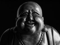 Maitreya sculpture. Maitreya wood sculpture still life Stock Photography