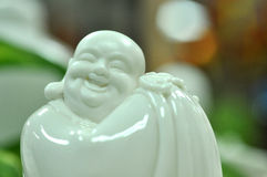 Maitreya. In white and blur background Royalty Free Stock Photos