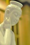 Maitreya. In white and blur background Stock Photo