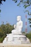 Maitreya White Buddha at Wat Pusawan Phetchaburi Stock Images