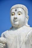 Maitreya White Buddha at Wat Pusawan Phetchaburi Royalty Free Stock Images