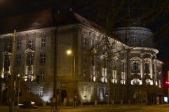 Maius do Collegium na noite durante o inverno foto de stock