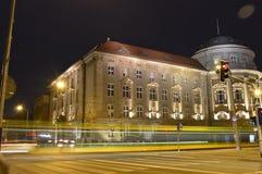 Maius do Collegium na noite durante o inverno imagens de stock royalty free