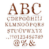 Maiuscola di alfabeto del cioccolato Immagine Stock Libera da Diritti