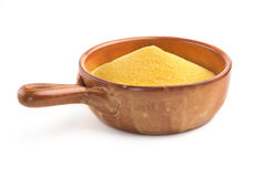 Maize flour in a bowl Stock Image