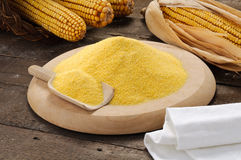Maize flour with setting Royalty Free Stock Photo