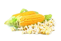 Maize and popcorn Stock Photos