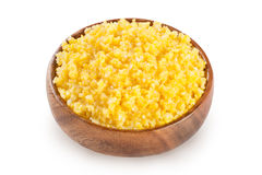 Maize porridge isolated on white Stock Images