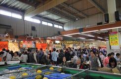 Maizuru Tore Tore center fish market Kyoto Japan. People visit Maizuru Tore Tore center fish market royalty free stock image