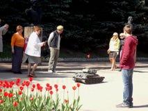 Majów wakacje w Rosja - zwycięstwo dzień Obrazy Royalty Free