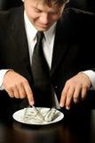 mają obiadowi biznesmenów dolary fotografia royalty free