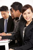 Mają Spotkania chińscy Biznesmeni Zdjęcie Stock