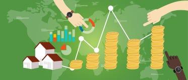 Majątkowego funduszu pieniądze domu nieruchomości inwestyci przyrost royalty ilustracja