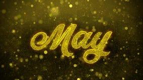 Maj Życzy powitanie kartę, zaproszenie, świętowanie fajerwerk