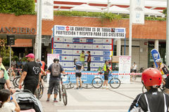 MAJ 28, 2017, ALCOBENDAS, SPANIEN: den traditionella cykeln ståtar B Royaltyfri Fotografi