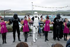 Maj być z tobą fourth Star Wars festiwal Obraz Royalty Free