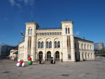 02 Maj 2014 - den Nobel fredmitten (Nobels Fredssenter), Oslo, Norge Royaltyfri Bild