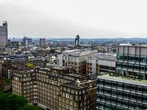Maj 20, 2018, England En panorama av London från höjden av observationsdäcket av museet av modern konst royaltyfri fotografi
