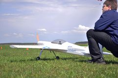 Maj 11, 2011 - festiwal aeromodelling przy lotniskiem w miasteczku Borodyanka, Kijowski region fotografia stock