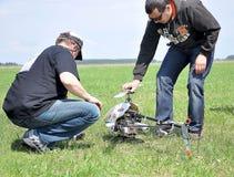 Maj 11, 2011 - festiwal aeromodelling przy lotniskiem w miasteczku Borodyanka, Kijowski region zdjęcie stock
