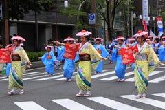 Maj 04 2017 Fukuoka gatafestival Royaltyfria Foton