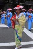 Maj 04 2017 Fukuoka gatafestival Royaltyfri Fotografi