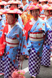Maj 04 2017 Fukuoka gatafestival Royaltyfri Bild