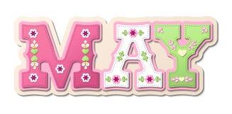 Maj, ilustrujący imię kalendarzowy miesiąc, ilustracja Zdjęcia Royalty Free