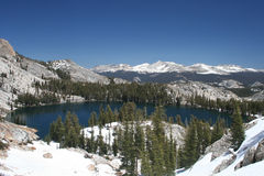 Maj jezioro, Tioga przepustka, Yosemite Obrazy Royalty Free