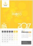 Maj 2017 Kalender 2017 Royaltyfri Bild