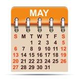 Maj kalender av 2018 år - royaltyfri illustrationer