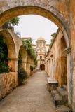 Maj 2013: monaster Agia Triada Tsagaroli w Chania regionie na wyspie Crete, Grecja Fotografia Royalty Free