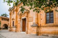 Maj 2013: monaster Agia Triada Tsagaroli w Chania regionie na wyspie Crete, Grecja Fotografia Stock