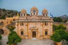 Maj 2013: monaster Agia Triada Tsagaroli w Chania regionie na wyspie Crete, Grecja Zdjęcia Stock