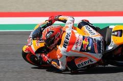 Maj 21, 2016: Mugello, WŁOCHY -, - Hiszpańszczyzny Honda jeździec Marc Marquez przy 2016 TIM GP Włochy MotoGP Włochy przy Mugello Zdjęcie Stock