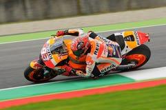 Maj 21, 2016: Mugello, WŁOCHY -, - Hiszpańszczyzny Honda jeździec Marc Marquez przy 2016 TIM GP Włochy MotoGP Włochy przy Mugello Obraz Royalty Free
