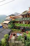 Maj 25, 2017 nadmorski halna grodzka sceneria w Jioufen, Taiwa Zdjęcie Stock