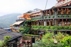 Maj 25, 2017 nadmorski halna grodzka sceneria w Jioufen, Taiwa Zdjęcia Stock
