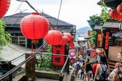 Maj 25, 2017 nadmorski halna grodzka sceneria w Jioufen, Taiwa Zdjęcia Royalty Free