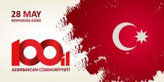 28 Maj Respublika gunu Översättning från azerbaijani: 28th May R Arkivfoton