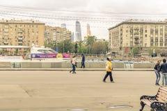 Maj 4, 2015 Rosja, Moskwa spacer w parku wymieniającym po Gorky Fotografia Royalty Free