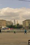 Maj 4, 2015 Rosja, Moskwa spacer w parku wymieniającym po Gorky Zdjęcie Stock