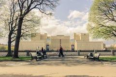 Maj 4, 2015 Rosja, Moskwa spacer w parku wymieniającym po Gorky Zdjęcia Stock