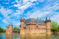 Maj 12, 2018 Slott De Haar, Utrecht, Nederländerna Royaltyfria Foton