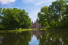 Maj 12, 2018 Slott De Haar, Utrecht, Nederländerna Royaltyfri Bild