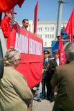 Maj 1st demonstration av Ukraina Royaltyfri Bild