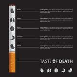 Maj 31st värld ingen tobakdagaffisch Uppsättning av organsymboler Arkivfoto