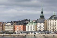21 MAJ, 2016 Sztokholm, SZWECJA - Sceniczna panorama Stary Holuje Fotografia Royalty Free