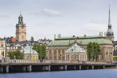 21 MAJ, 2016 Sztokholm, SZWECJA - Sceniczna panorama Stary Holuje Zdjęcie Royalty Free