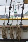 21 MAJ, 2016 Sztokholm, SZWECJA - Sceniczna panorama Stary Holuje Obraz Stock